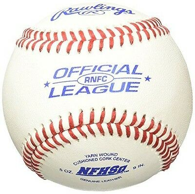 Rawlings Men's High School Game Ball Cushioned Cork Center (Pack of 12), Leather