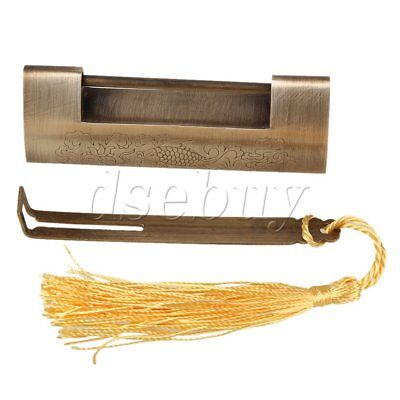 Chinese Ancient Style Auspicious Fish Padlock Spacing 5.2cm for Collection Gift