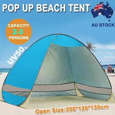 Portable Pop Up Beach Canopy UV Sun Shade Shelter Camping Fishing Tent Mesh AU