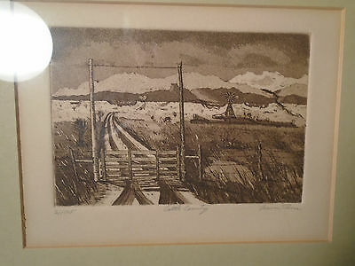 """Cattle Country"" Etching Pencil signed by Artist #21 of 125"