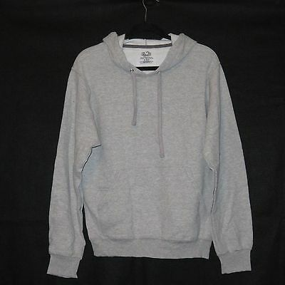 Fruit of the Loom Adult Hooded Pullover Sweatshirt GRAY ~ SIZE SMALL ~ NEW