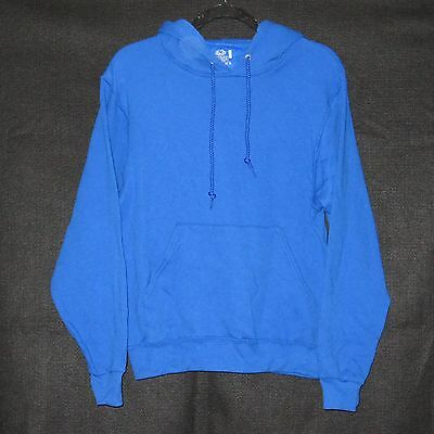 Fruit of the Loom Adult Hooded Pullover Sweatshirt ~ BLUE ~ SIZE SMALL ~ NEW