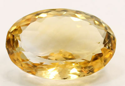 Stunningly Colorful Oval Cut Yellow Citrine 16.69 Carats