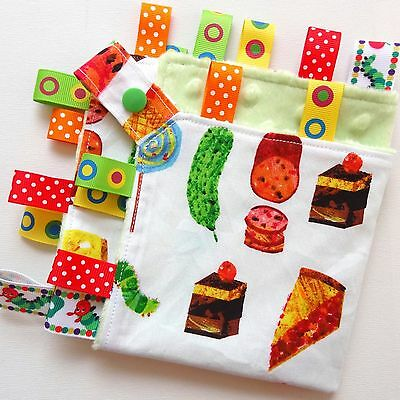Very Hungry Caterpillar FOOD Taggie Security Blanket Toy Comforter dummy clip ho