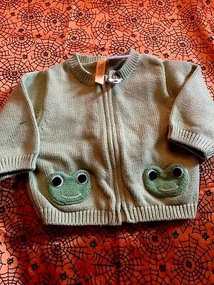 Gymboree Little Froggy Sweater Size 3-6 Month