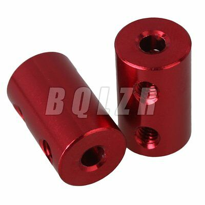 2x Rigid Shaft Coupling Coupler Motor Drive Axis Connector Sleeve 3.17mm x 4mm