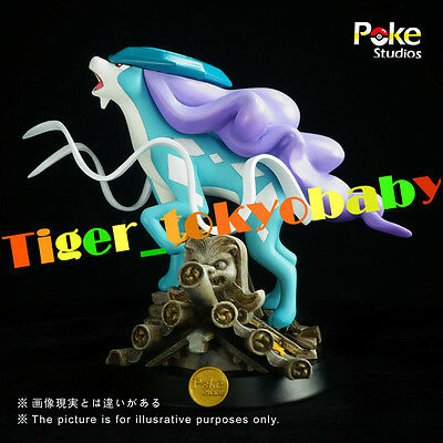 Pokemon Monster Studio Suicune Figure Statue Resin Decorate Fantasy Collection