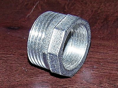 "NEW 1 Inch NPT to 3/4"" NPT 304 SS STAINLESS STEEL PIPE BUSHING, REDUCER FITTING"