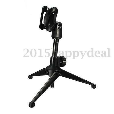 Professional Studio Microphone Mic Stand Tripod Holder Clip Clamp Mount Desktop