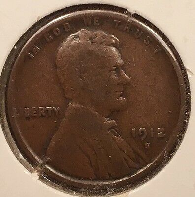 1912-S 1C BN Lincoln Cent. RARE, KEY DATE