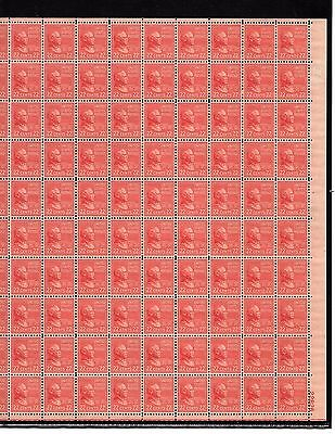 Us Mint Sheet Scott#827,22C Stamp Grover Cleveland  Sheet Of 100 Mnh Og