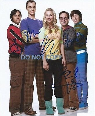 The Big Bang Theory - Hand Signed With Coa - The 5 Main Cast Autographed Photo