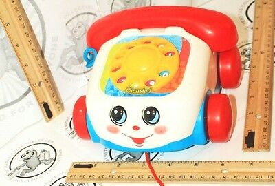 Fisher-Price Chatter Telephone Pull Rotary Color Dial Toy Phone Kids Or Toddler