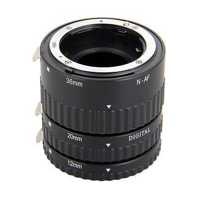 Meike Auto Focus AF Macro Extension Tube Set for Nikon D-SLR AF AF-S DX Camera