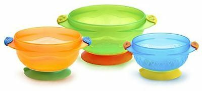 Kids Feeding Healthy Bowls Strong Munchkin Stayty Suction 3 Count Baby Safety