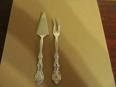 International Silver INTERLUDE Olive Fork & Sm Server Silverplate Flatware Lot C