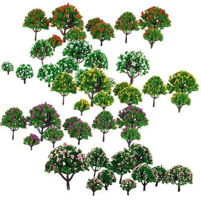 50Pcs Trees Model Train Railway RR Scenery Forest Building Wargame Landscape