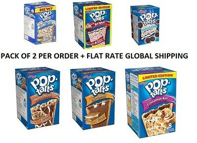 Pop-Tarts Toaster Pastries, 8 Count Many Limited Edition Flavors + FREE SHIP