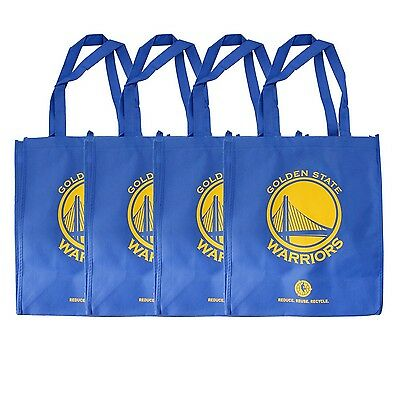 NBA Golden State Warriors Reusable Grocery Tote Bag, Blue