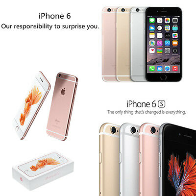 UNLOCKED APPLE IPHONE 6 6Plus 6S 16GB SMARTPHONE GREY SILVER ROSEGOLD