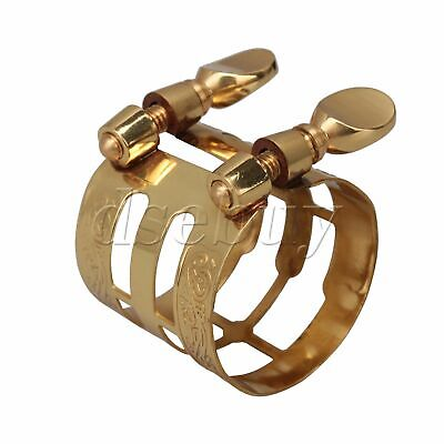 Gold Plated Alto Saxophone Mouthpiece Ligature Wonderful Flexibility