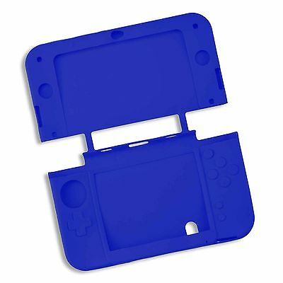 Blue Soft Silicone Gel Cover Case for NEW Nintendo 3DSXL 3DS XL Console UK