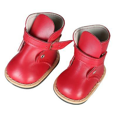 Pair of Red Ankle Boots Shoes for 18 inch American Girl Our Generation Dolls