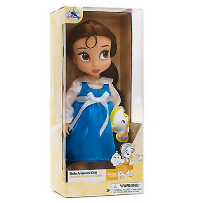 New Official Disney Beauty & The Beast 38cm Belle Dress Animator Doll With Chip