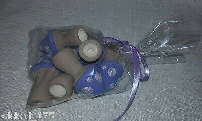 LILAC FAIRY GARDEN MUSHROOMS PACK OF 6 Hand Made in Australia