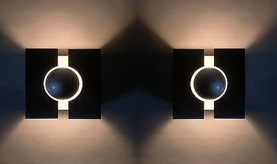 2x 70s Wand Lampe pair of cubic sconce space age wall lamp applique annees 70