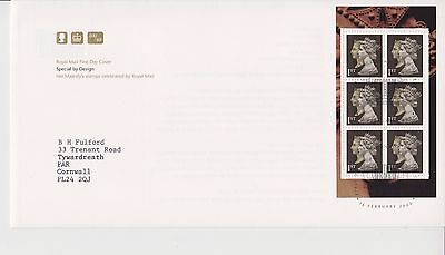 Gb Royal Mail Fdc Cover 2000 Special By Design Prestige Pane 2 Head Black