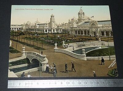 Grande Cpa Giant Post Card Court Of Arts Franco-British Exhibition London 1908