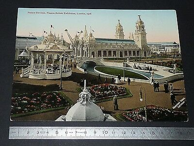 Grande Cpa Giant Post Card Palace Gardens Franco-British Exhibition London 1908