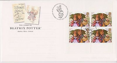Gb Royal Mail Fdc Cover 1993 Prestige Pane Beatrix Potter Rabbits Bureau Pmk