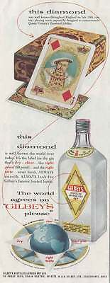 1955 Gilbery's Gin: This Diamond Was Well Known (20659)