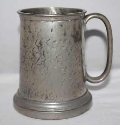 Tudric Pewter - Vintage Glass Bottomed Half Pint Tankard