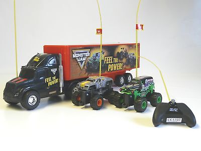 Monster Jam Truck Hauler m. Grave Digger Max-D single function New Bright 1330