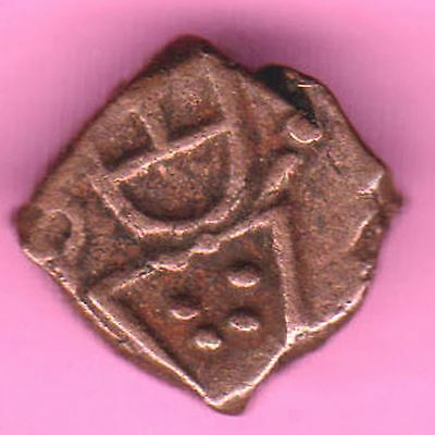 French India-(Dutch Occupation-1693/1698)-Cache-Rarest Copper Coin-50