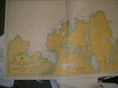 Vintage Admiralty Chart 2699 IRELAND - HORN HEAD to FANAD HEAD 1977 edition