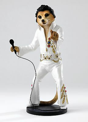 Elvy Elvis Magnificent Meerkats Country Artists Figurine 26cm CA04240 RRP £44