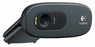 Logitech C270 Webcam Usb Plug And Play Hd 720P Uk Seller