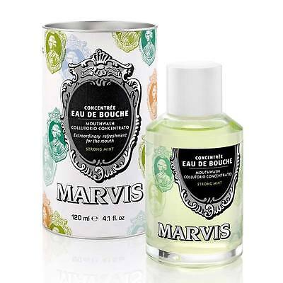 Marvis - Eau de Bouche Collutorio Concentrato 120ml STRONG MINT Denti SANI MENTA