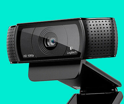 Logitech C920 Webcam Usb Plug And Play Skype Full Hd  Stereo Mic Uk Seller