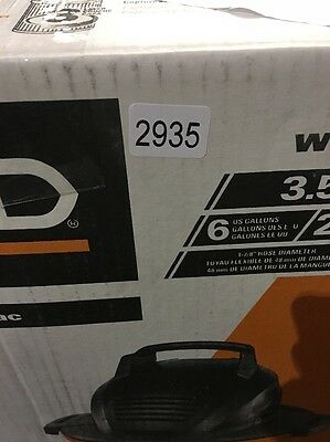 Ridgid WD06670 6 Gallon Wet/Dry Vac 2935. I