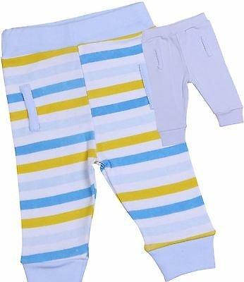 BabyPrem Baby Boys Clothes 2 Pack Soft Cotton Jogging Trousers Leggings 0 - 6 m