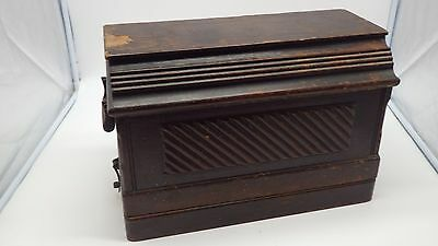 Antique Singer Portible Breadbox Coffin Top Sewing Machine Carrying Case