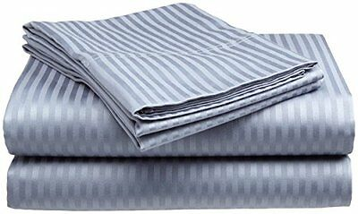 Full size 300 High TC Fitted Sheet Pillow Cases Set Deep Pocket Cotton Cover Bed