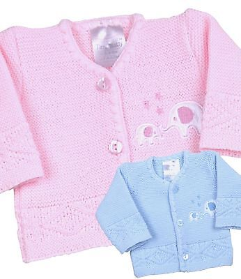 BabyPrem Premature Preemie Baby Clothes Boy Girls Blue Pink Cardigan 3 - 8lb
