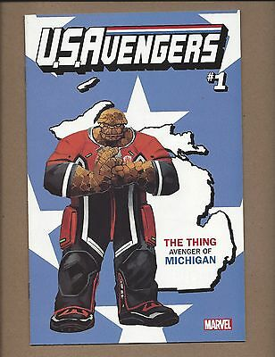 US Avengers #1 The Thing - Michigan - State Variant Cover NM