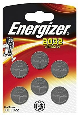 6x Energizer CR2032 3V Lithium Coin Cell Battery 2032 DL2032 BR2032 SB-T15